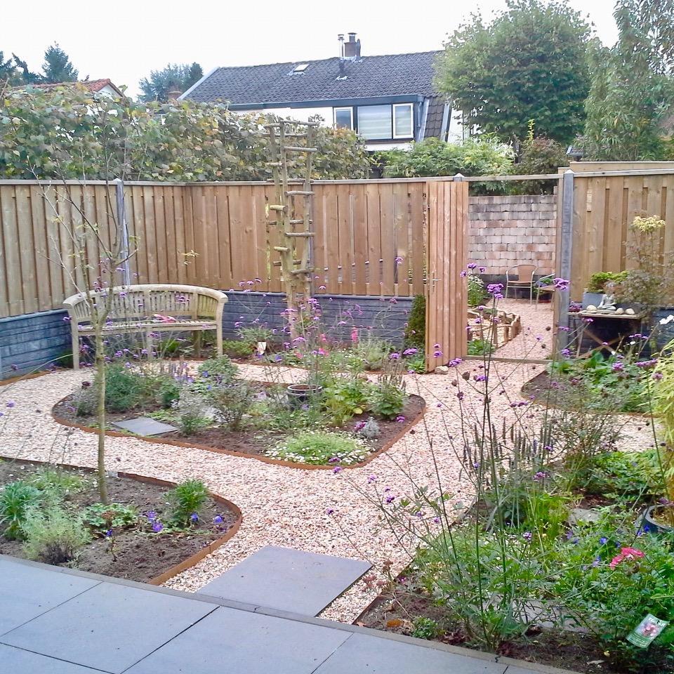 tuin aangeplant
