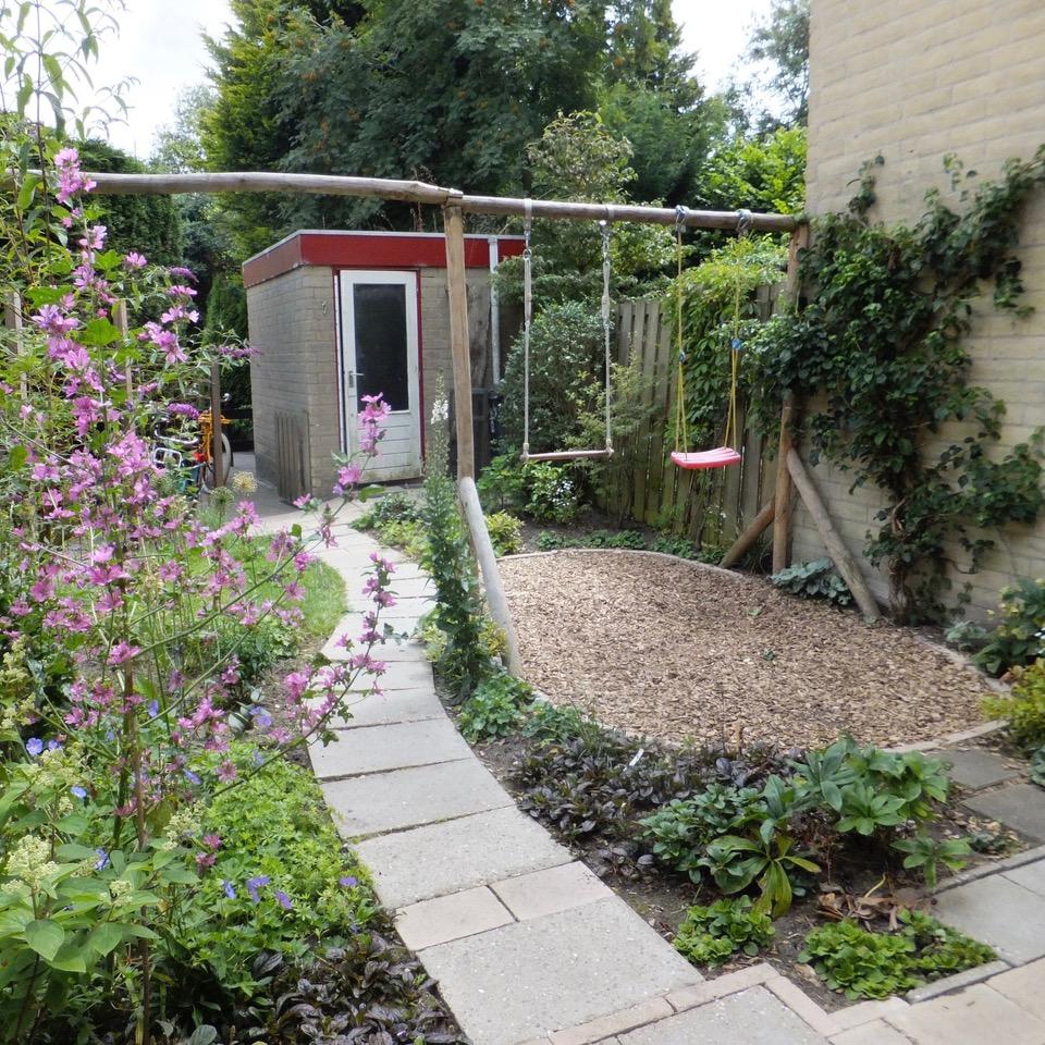 tuin aangelegd